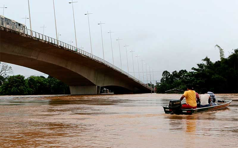 Fortes chuvas podem gerar transbordamento de rios no Acre