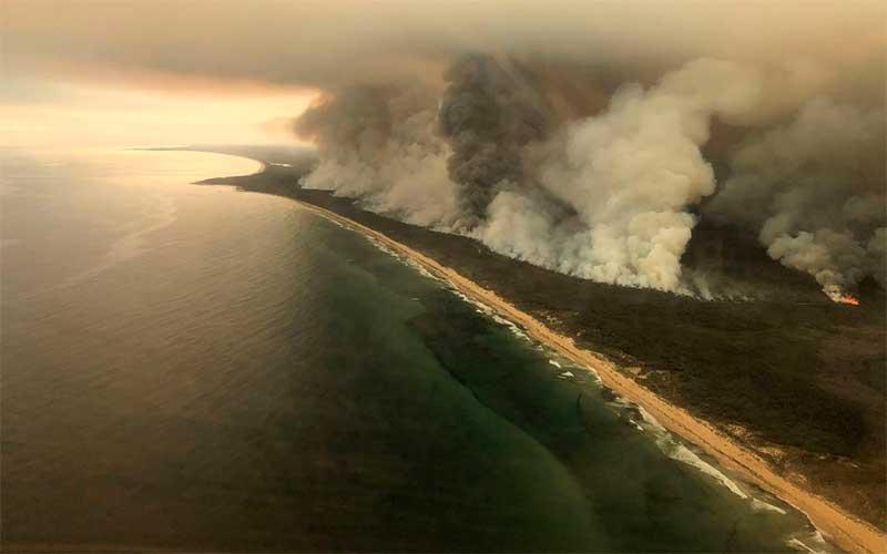 """Chuva """"limpa"""" fumaça da Austrália no sul do Brasil"""