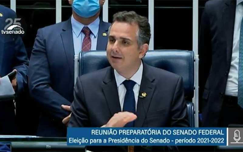 Rodrigo Pacheco obtém 57 votos e é eleito presidente do Senado